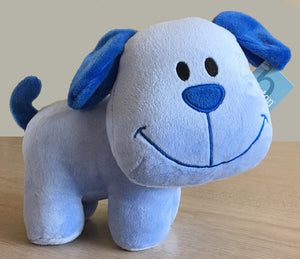Blue Puppy Dog Plush Toy 9""