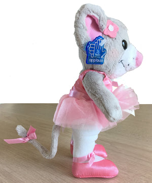 "Suzy's Zoo Tilly Ballerina Mouse Collectible Poseable Plush Toy 9"" by Applause"