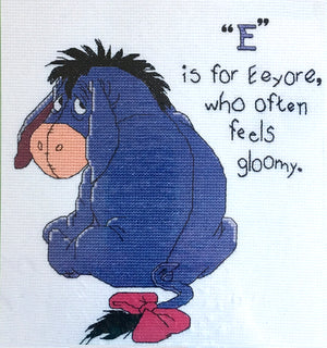 "Winnie The Pooh Eeyore Donkey Counted Cross Stitch Kit 10"" x 9"""