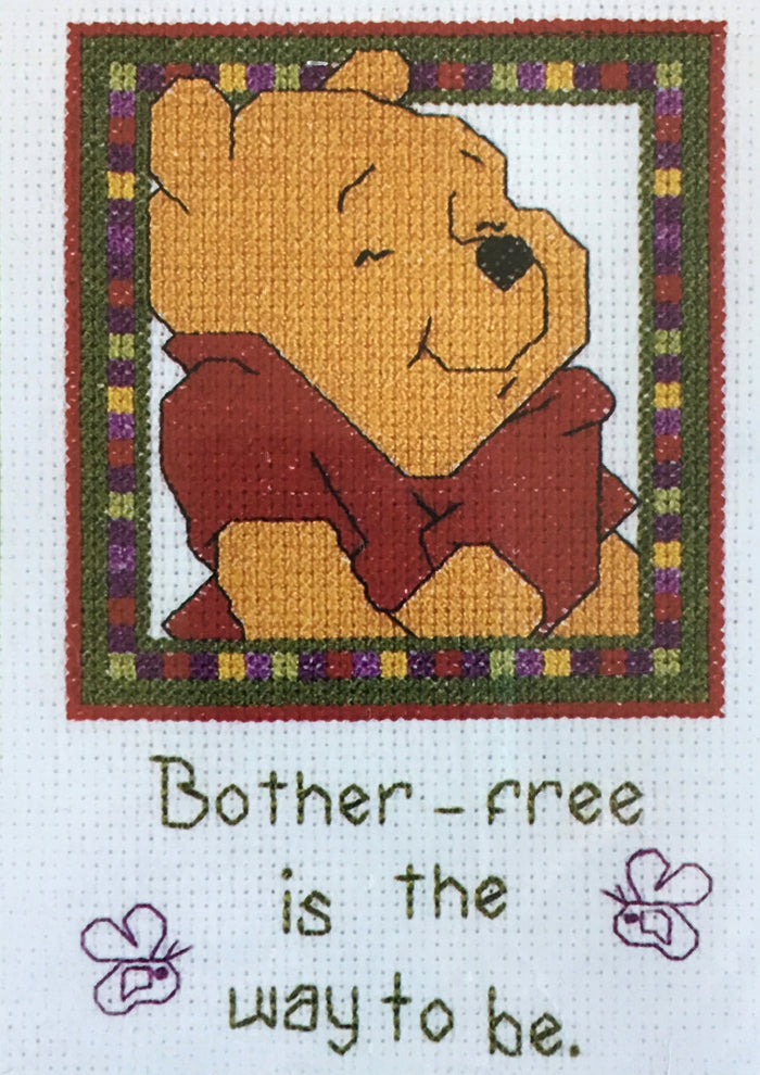 "Winnie The Pooh Bother-free Counted Cross Stitch Kit 5"" x 7"""