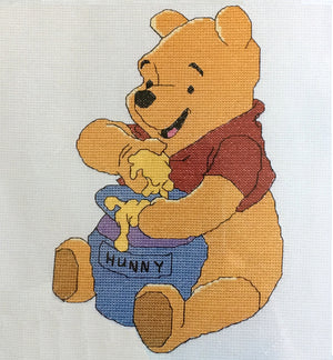 "Winnie The Pooh And The Honey Pot' Counted Cross Stitch Kit 7"" x 10"""
