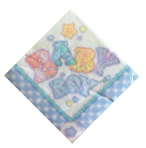 Baby's Quilt Baby Boy Luncheon Large Napkins - Front