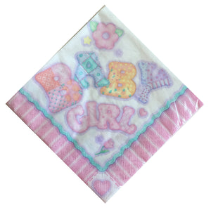 Baby's Quilt Baby Girl Luncheon Large Napkins - Front