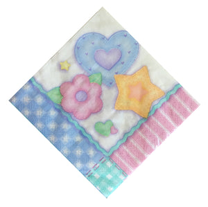 Baby's Quilt Dessert Small Napkins - Front