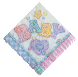 Baby's Quilt Baby Luncheon Large Napkins - Front