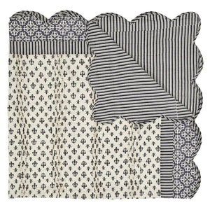 Luxury French Fleur-de-lis King Quilt Set Farmhouse Elysee Black Antique White Grey