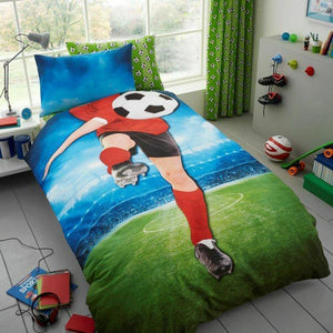Selfie Soccer Kick Bedding Twin Duvet / Comforter Cover Set