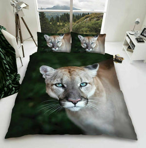 Wild Puma Animal Bedding Duvet / Comforter Cover Set Twin Full Queen Photo Print