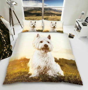 Westie Dog Print Bedding Duvet / Comforter Cover Set Twin Full Queen Photo Print
