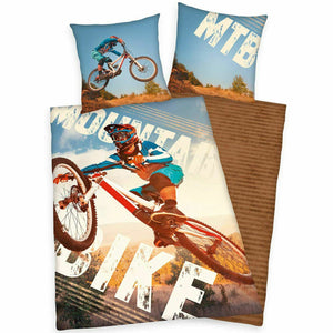 Extreme Mountain Bike Bedding Twin Duvet / Comforter Cover Set