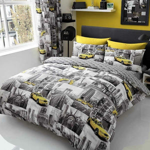 Yellow Cab NYC Photo New York Bedding Full Duvet Cover / Comforter Cover Set