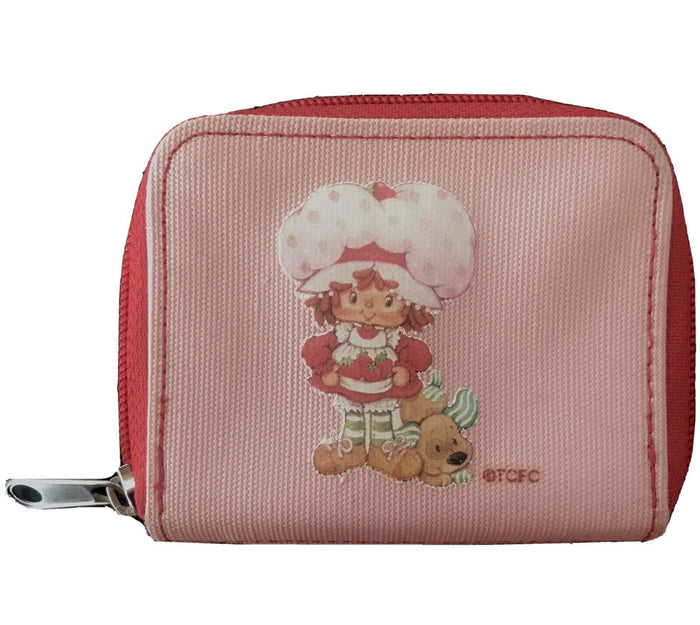 STRAWBERRY SHORTCAKE Pink Wallet Coin Purse 2002 Pre-Owned