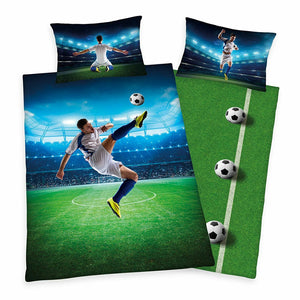 Soccer Kick Bedding Twin Duvet / Comforter Cover Set