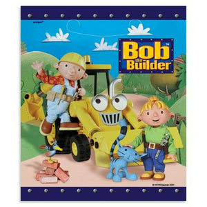 Bob The Builder Blue Party Loot Plastic Gift Bag 8 CT