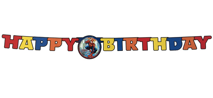 Ultimate Spiderman Jointed Paper Party Banner