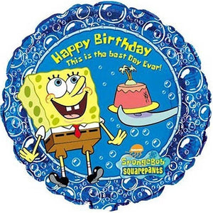 "Spongebob Squarepants Happy Birthday Best Day Ever 18"" Party Balloon"
