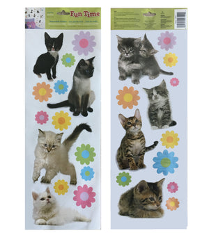 Cute Kittens Little Kitties Wall Decals / Scrapbooking Peel & Stick 27 Stickers