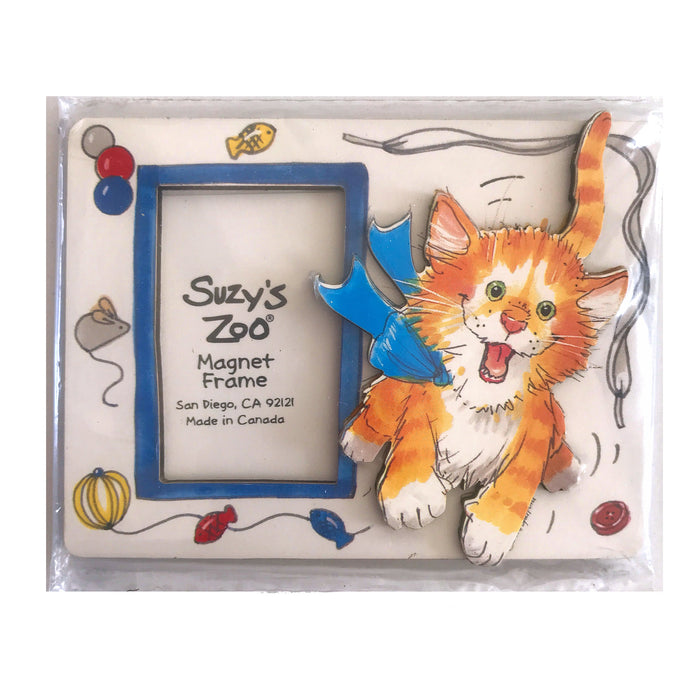 Suzy's Zoo Vintage Orange Cat Magnet Frame