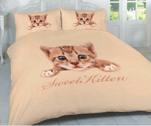 Sweet Kitten Bedding Duvet / Comforter Cover Set Kitty Cat Twin Full Queen Photo Print