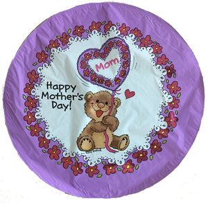 "Suzy's Zoo Willie Bear Happy Mother's Day 18"" Purple Party Balloon"