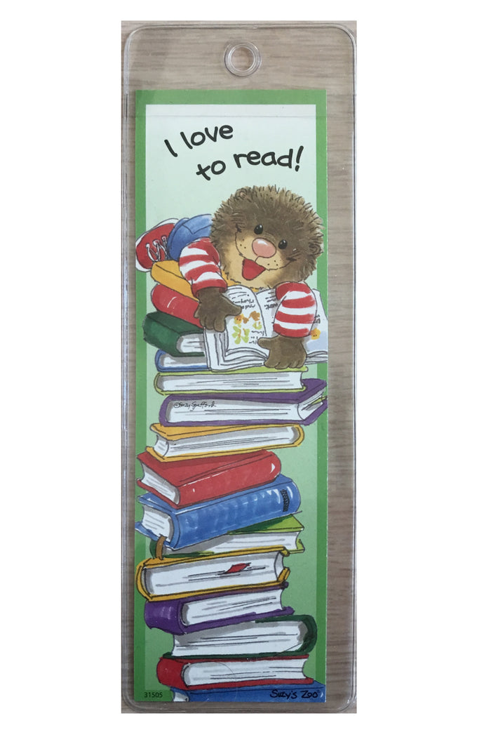 Suzy's Zoo Ollie Bookmark - I Love To Read!
