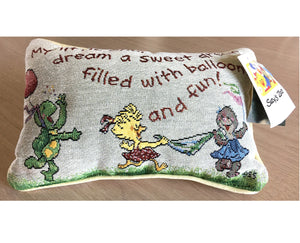 "Vintage Suzy's Zoo Word Decorative Throw Pillow 5"" x 12"" 'My Little One'"