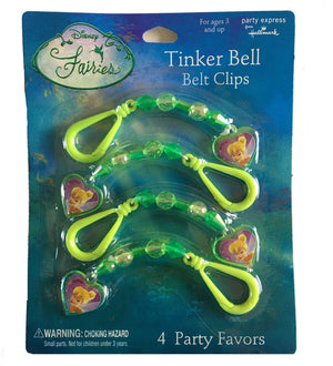 Tinkerbell Belt Clips Party Favors 4 CT
