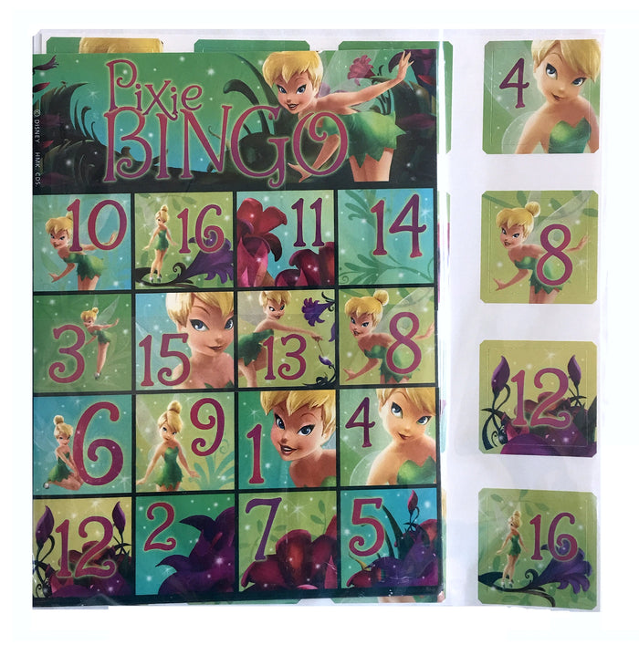 Tinkerbell Pixie Party Bingo Game