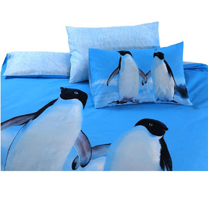 Two Penguins Bedding Duvet / Comforter Cover Set Twin Full Queen King Photo Print