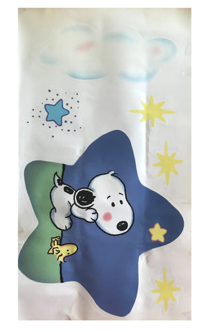Vintage Baby Snoopy Wall Decals Moon & Stars Puppy Dog Four Sheets - New Other