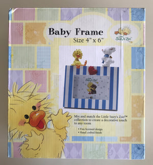 "Little Suzy's Zoo Witzy Duck & Lulla Bunny Baby Animals Keepsake Photo Frame for 4"" x 6"" Photo"