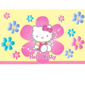 Hello Kitty Rolled Gift Wrap Pastel PInk Blue Yellow Flower Party Wrapping Paper