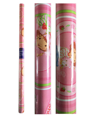 Strawberry Shortcake Rolled Gift Wrap Pink Party Wrapping Paper