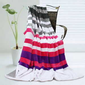 Pink Red Patchwork Blanket Style F - 017