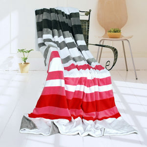 Pink Red Patchwork Blanket Style M - 021