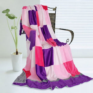 Pink Red Patchwork Blanket Style G - 024