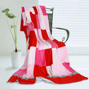 Various PInk Red Purple Patchwork & Striped Kids & Teen Fleece Blankets Twin/Full