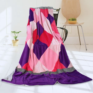 Pink Red Patchwork Blanket Style H - 031