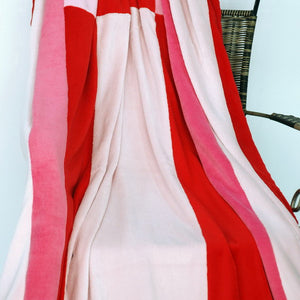 Pink Red Patchwork Blanket Style C - 041