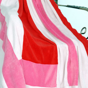 Pink Red Patchwork Blanket Style B- 053