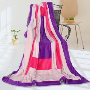 Pink Red Patchwork Blanket Style E - 057