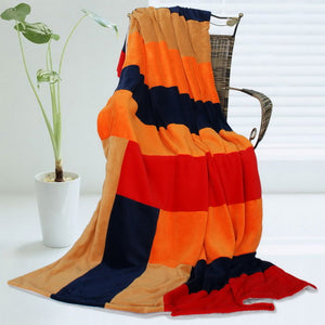 Orange Red Fleece Blanket Style A - 073