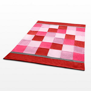 Pink Red Patchwork Blanket Style A - 027