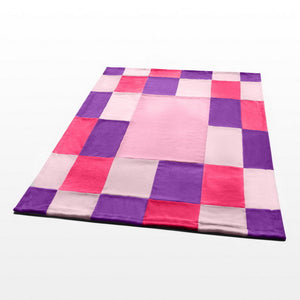 Pink Red Patchwork Blanket Style D - 039