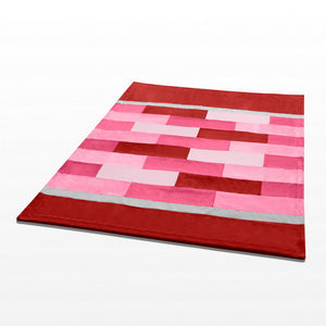 Pink Red Patchwork Blanket Style I - 048