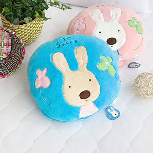 Blue Bunny Pillow with Blanket