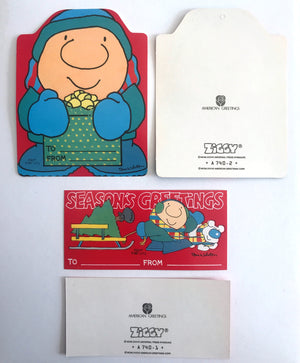 Vintage Ziggy Christmas Paper Gift Tags Collectible