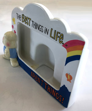 "Vintage Ziggy Earthenware Collectible Photo Frame ""The Best Things In Life"""