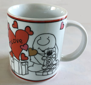 "Ziggy Collectible Ceramic Mug 10 oz ""Love Is A Present'"