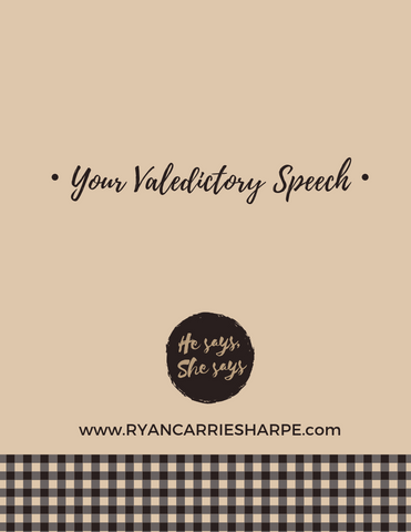 Your Valedictory Speech guide